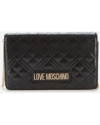 Love Moschino Quilted Chain Bag - Black