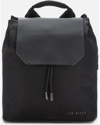Ted Baker Mahda Nylon Drawstring Backpack - Black