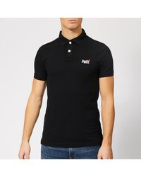 Superdry Classic Pique Polo Shirt - Black