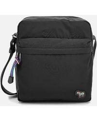PS by Paul Smith Zebra Logo Flight Bag - Black