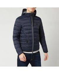 Armani Exchange Padded Hooded Jacket - Blue