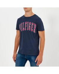 Tommy Hilfiger - College Logo T-shirt - Lyst