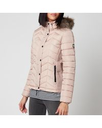 Superdry Luxe Fuji Padded Jacket - Pink