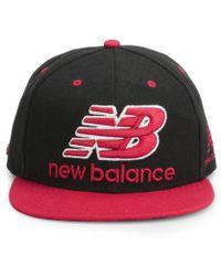 89221de6f11 New Balance - Unisex Courtside 6 Panel Flat Peak Baseball Cap - Lyst