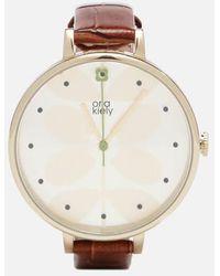 Orla Kiely - Ivy Croc Leather Watch - Lyst