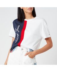 Tommy Hilfiger Colourblock Logo T-shirt - White