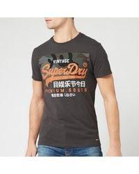 Superdry Vintage Label Premium Goods Camo T-shirt - Black