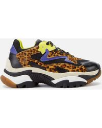 Ash Addict Leopard Calf Hair Leather & Mesh Chunky Sneakers - Multicolor