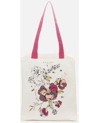 Radley Sketchbook Floral Medium Tote Bag - Pink