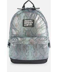 Superdry Glitter Scale Montana Bag - Blue