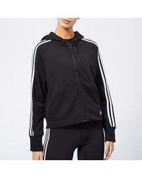adidas Must Haves 3 Stripes Full Zip Hoody - Black