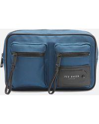 Ted Baker Harver Travel Nylon Bumbag - Blue
