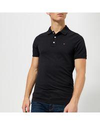 Tommy Hilfiger Original Fine Pique Polo Shirt - Black