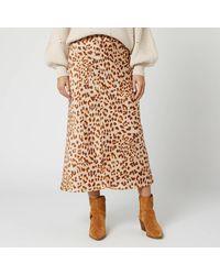 Free People Normani Bias Skirt - Brown