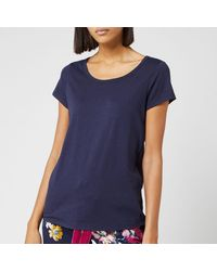 Joules Anna Short Sleeve Pajama Top - Blue