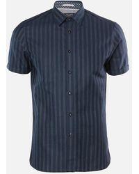 Ted Baker Handeez Dotted Stripe Shirt - Blue