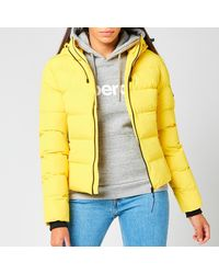 Superdry Spirit Sports Puffer - Yellow