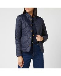 Barbour Emma Bridgewater Morley Quilted Jacket - Blue