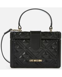 Love Moschino Quilted Box Bag - Black