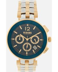 Versus - Logo Stainless Steel Chronograph Watch - Lyst