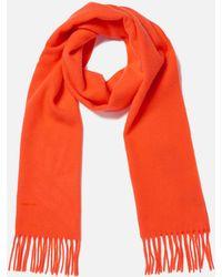 GANT Solid Lambswool Woven Scarf - Orange