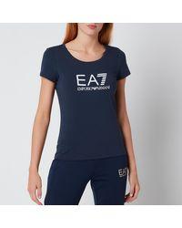 EA7 Train Shiny T-shirt - Blue