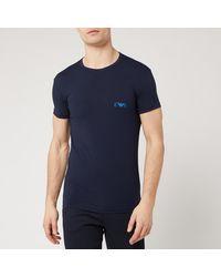 Emporio Armani 2 Pack Crew Neck T-shirt - Blue
