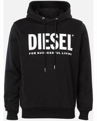 DIESEL Division Logo Hoody - Black