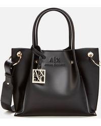 Armani Exchange Small Shopper Bag - Black