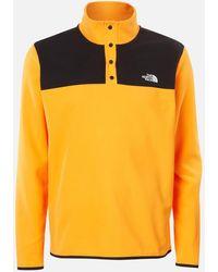 The North Face Tka Glacier Snap Neck Pullover Sweater - Orange