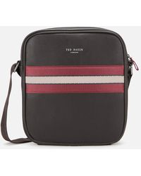 Ted Baker Neeve Webbing Flight Bag In Brown
