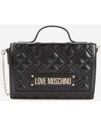 Love Moschino Quilted Top Handle Bag - Black