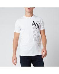 Armani Exchange Vertical Logo T-shirt - White