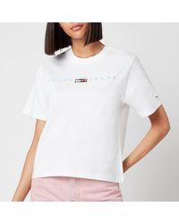 Tommy Hilfiger Tjw Bxy Crop Modern Logo T-shirt - White