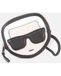 Karl Lagerfeld K/ikonik Karl Coin Purse - Black