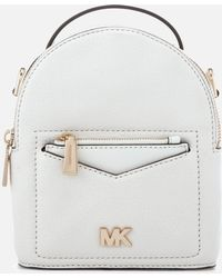 079289b5d3cb5 Lyst - Michael Kors Rhea Extra-small Metallic Leather Backpack in ...