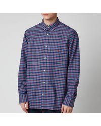 GANT Oxford Check Shirt - Red