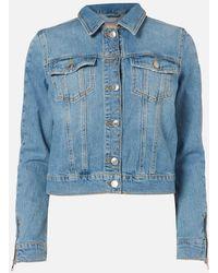 Guess Adelya Zip Denim Jacket - Blue