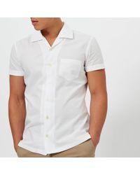 BOSS Orange - Esalsa Cuban Collar Short Sleeve Shirt - Lyst