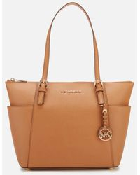 MICHAEL Michael Kors Jet Set Item East West Top-zip Tote - Brown
