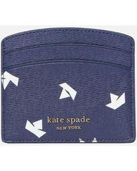 Kate Spade Spencer Paper Boats Card Holder - Blue
