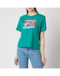 Tommy Hilfiger Tjw Signature Logo T-shirt - Green