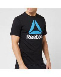 Reebok Stacked Short Sleeve T-shirt - Black