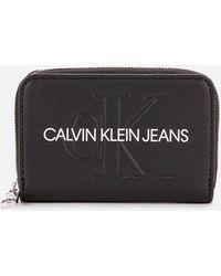 Calvin Klein Accordion Zip Around - Black