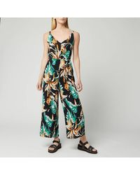 Whistles Tropical Floral Jumpsuit - Green