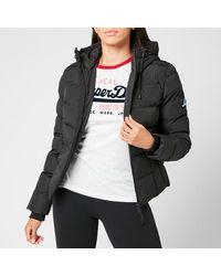 Superdry Spirit Sports Puffer Jacket - Black