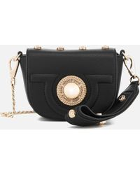 c5a88e90971 Versace Jeans Flap Over Cross Body Bag in Black - Lyst