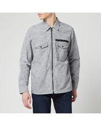 BOSS by Hugo Boss Lovel-zip 3 Shirt - Grey