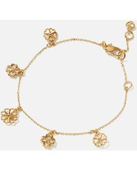 Kate Spade Spade Floral Charm Bracelet - Metallic