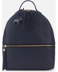 Radley Fountain Road Medium Backpack Zip Top Bag - Blue